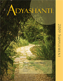 2009 Adyashanti Newsletter Supplement