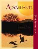 2010  Adyashanti Newsletter Supplement