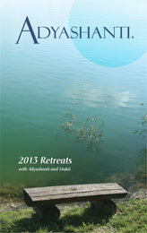 2013 Adyashanti Retreat Brochure